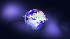 News Logo Stock Footage