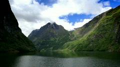 fjord - stock footage
