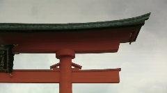 Miyajima Shrine Gate Stock Footage