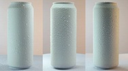 White tins on the grey background. Stock Footage