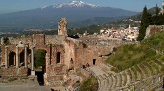 The Greek Theatre Taormina, Sicily Stock Footage