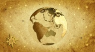 The globe.Retro style. Stock Footage