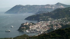 The Town of Lipari, Lipari Island, in the Aeolian Islands, Italy Stock Footage