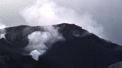 Stromboli Volcano, Aeolian Islands, Italy Europe. Stock Footage
