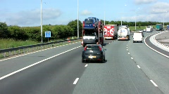 M62 to Manchester 2 Stock Footage