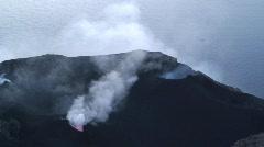 Stromboli Volcano, Aeolian Islands, Italy Europe. Stock Footage
