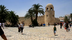 Medina (old town) in Sousse, Tunisia Stock Footage