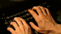 Typewriter 1 Full HD - stock footage