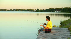 Fishing 1756 Stock Footage