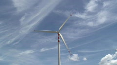 Wind Turbines, South East Sicily, Europe Stock Footage