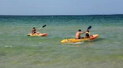 Kayak-paddling Stock Footage