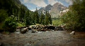 (1227) Maroon Bells Peaks Lake Colorado Mountains Wilderness Summer Footage