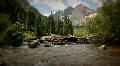 (1227) Maroon Bells Peaks Lake Colorado Mountains Wilderness Summer HD Footage