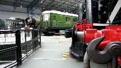 Railway Museum city of York 2 - stock footage