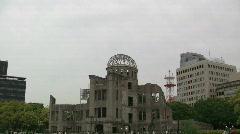 Hiroshima Bomb Dome Stock Footage