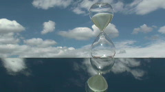 Hourglass Cloud Time Lapse Stock Footage