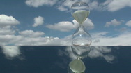 Stock Video Footage of Hourglass Cloud Time Lapse