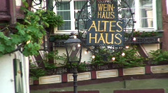 Traditional half-timbered house Bacharach, Germany Stock Footage