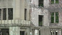 Hiroshima Bomb Dome - stock footage