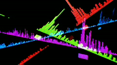 Computer equalisers music sound audio graphic party disco Stock Footage