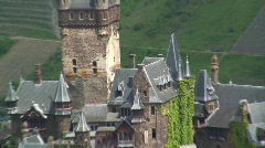 Cochem Castle, Mosel Valley Rhineland, Palatinate, Germany Europe Stock Footage