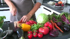 Man cooking - stock footage