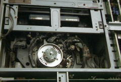 Video head inside in Professional tape recorder mechanism Stock Footage