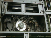 Stock Video Footage of video head inside in Professional tape recorder mechanism