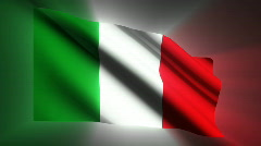 Italy waving flag Stock Footage
