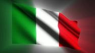 Italy waving flag Stock Footage