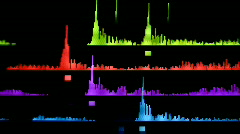 computer equalisers music sound audio graphic party disco - stock footage