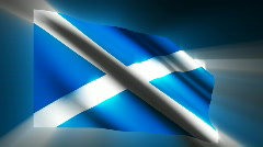 Scotland waving flag Stock Footage