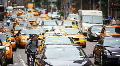 Taxis and traffic NYC Footage
