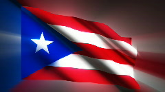Puerto Rico waving flag Stock Footage