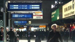 Commuters at Hamburg Railway Station, Germany, Europe Stock Footage