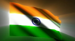 India waving flag Stock Footage
