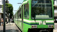 Green tramway Stock Footage