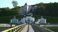 Stock Video Footage of Victorian Style Pier, Sellin, Rugen Island, Germany Europe.