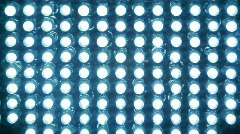 Spotlight, which consists of bright blue Light-emitting diode, change focal Stock Footage