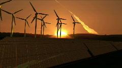 Computer animation presenting wind turbine Stock Footage