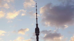 Ostankino Tower is a free-standing television  and radio  tower in Moscow, Stock Footage