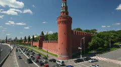 The Cathedral of Intercession of Theotokos on Moat, popularly known as Saint Stock Footage