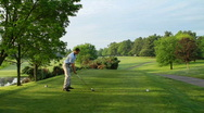 Golfer Teeing Off 556 Stock Footage