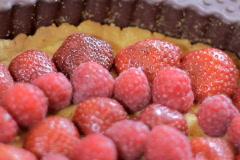 Close up of rotating fruit tart Stock Footage