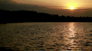 Lake sunset 575 Stock Footage