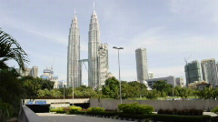 Vehicles Enter To KLCC Parking - stock footage