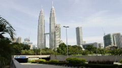 Timelapse for Vehicles Enter To KLCC Parking Stock Footage