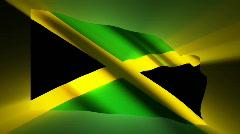 Jamaica waving flag Stock Footage