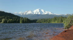 Lake Siskiyou and Mt Shasta - stock footage
