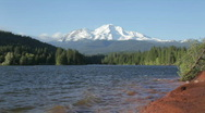 Lake Siskiyou and Mt Shasta Stock Footage